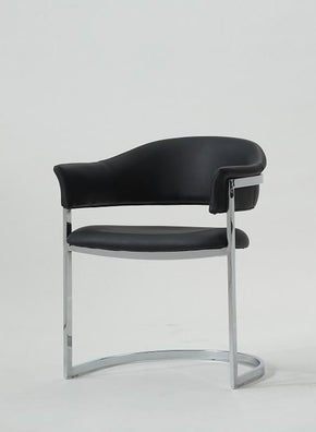Vig Furniture Modrest B859A Contemporary Black Leatherette Dining Chair VGVCB859A-BLK | $179.80. Dining Chairs - . Buy today at http://www.contemporaryfurniturewarehouse.com