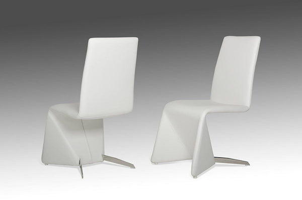 Modrest Nisse - Contemporary White Leatherette Dining Chair (Set Of 2)