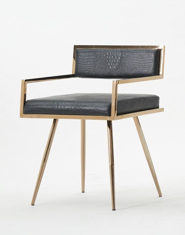 Pleasing Vig Furniture Vgvcb879 Blk Modrest Rosario Modern Black Rose Gold Dining Chair Sale At Contemporary Furniture Warehouse Today Only Caraccident5 Cool Chair Designs And Ideas Caraccident5Info