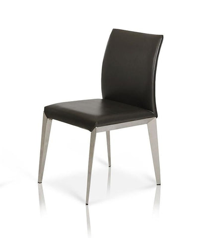 Dining Chairs - Vig Furniture VGWCE531Y Modrest Daytona - Modern Dark Grey Eco-Leather Dining Chair (set of 2) | Only $548.80. Buy today at http://www.contemporaryfurniturewarehouse.com