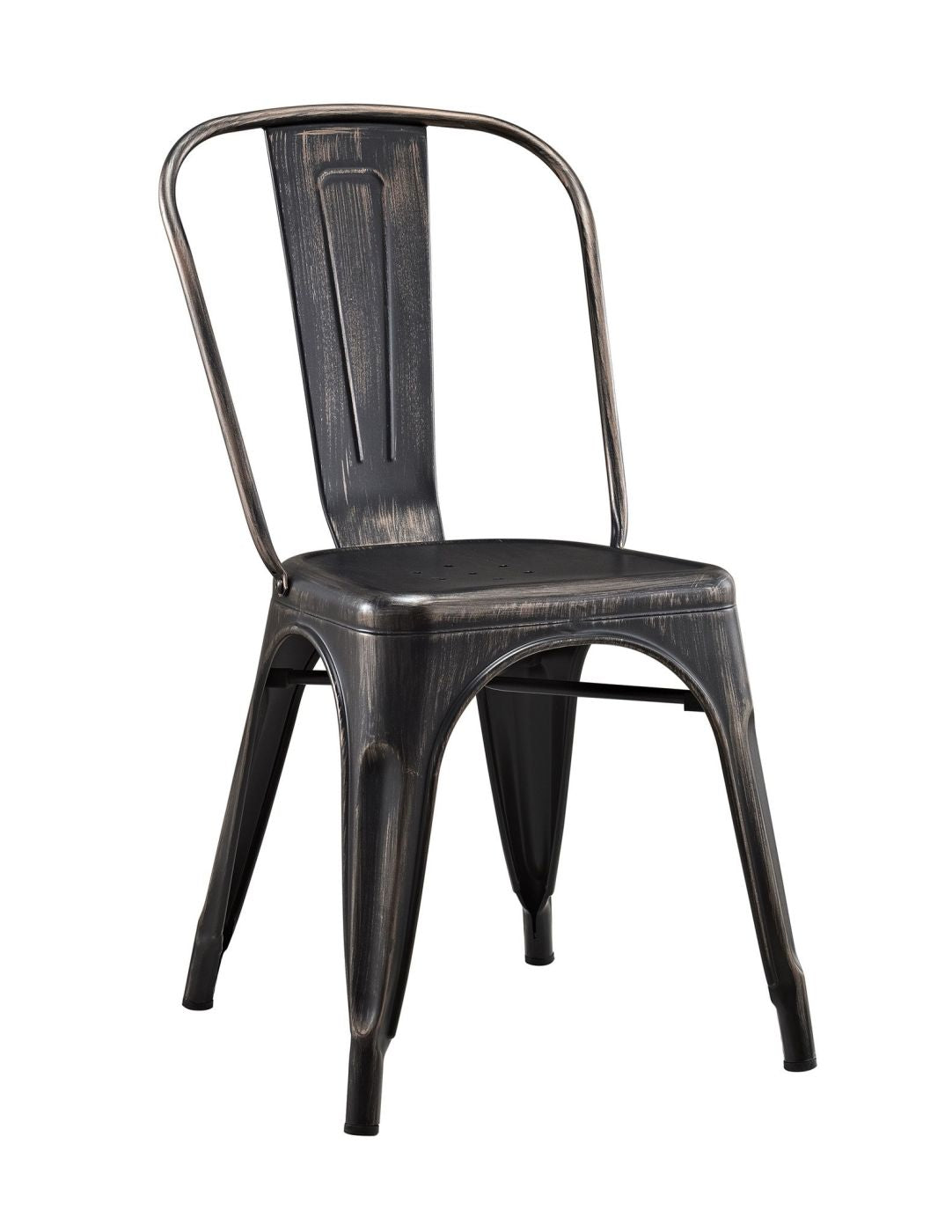 Metal Cafe Chair   Antique Black Dining ...