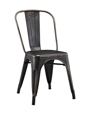 Metal Cafe Chair - Antique Black Dining