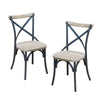 Reclaimed Dining Chairs Set Of 2 Chair