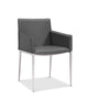 Daphne Dining Armchair gray eco leather