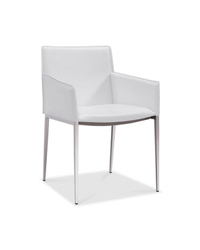 Daphne Dining Armchair White Eco Leather Chair