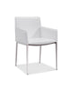 Daphne Dining Armchair white eco leather