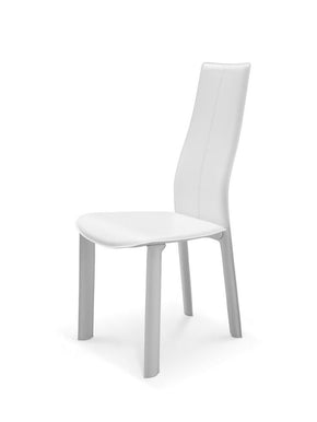 Allison Dining Chair White Hard Leather