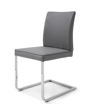 Ivy Dining Chair Gray Eco Leather