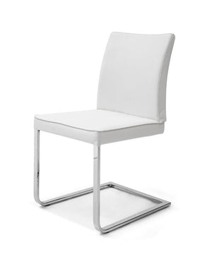 Ivy Dining Chair White Eco Leather