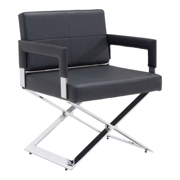 Zuo Modern Yes Dining Chair Black Chromed Steel At Contemporary Furniture  Warehouse