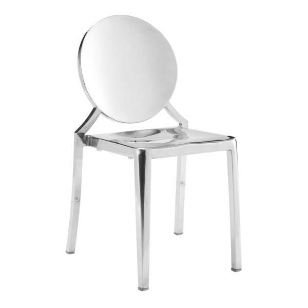 Beau Zuo Modern Ghost Dining Chair Polished Stainless Steel (Set Of 2) At Contemporary  Furniture Warehouse