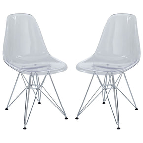 Paris Dining Side Chair Set Of 2 Clear