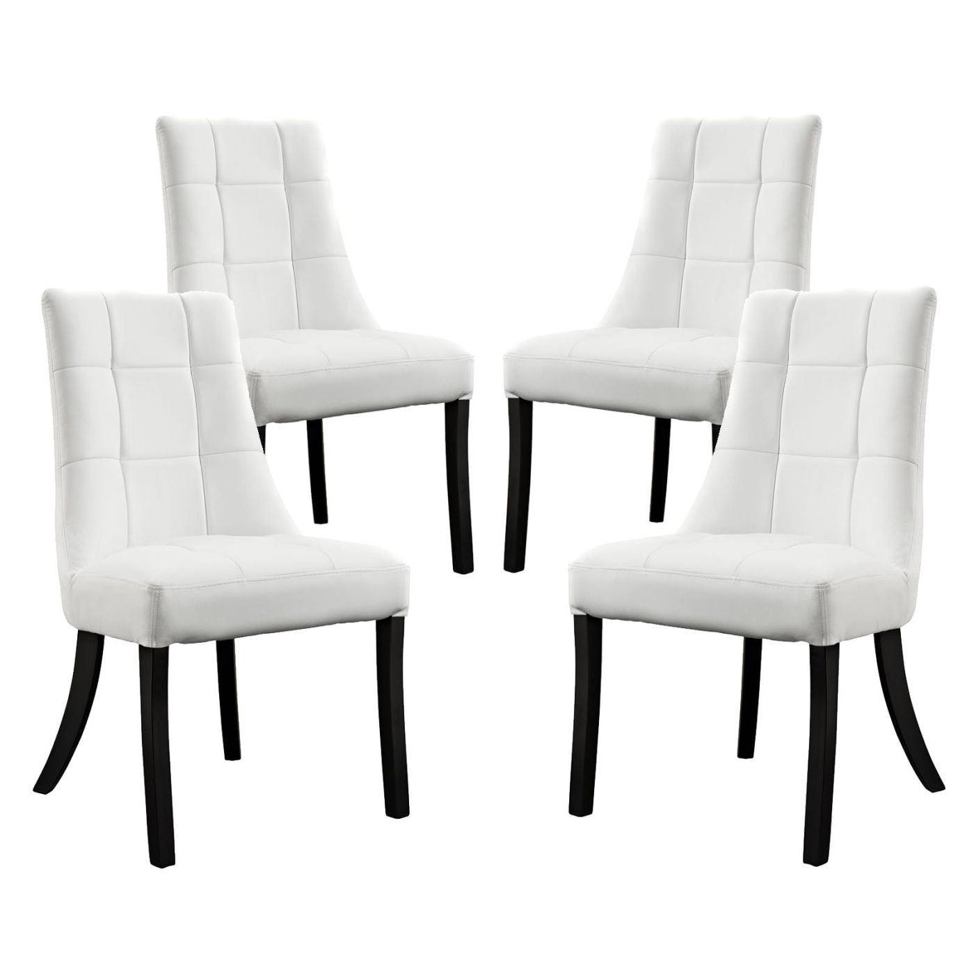 Awesome Modway Dining Sets On Sale Eei 1678 Whi Noblesse Faux Leather Dining Chair Set Of 4 Only Only 517 80 At Contemporary Furniture Warehouse Ibusinesslaw Wood Chair Design Ideas Ibusinesslaworg