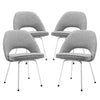 Cordelia Dining Chairs Set Of 4 Light Gray