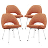 Cordelia Dining Chairs Set Of 4 Orange