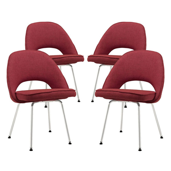 Cordelia Dining Chairs Set Of 4 Red