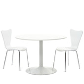Revolve 3 Piece Dining Set White