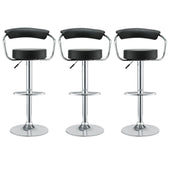 Diner Bar Stool Set Of 3 Black Dining