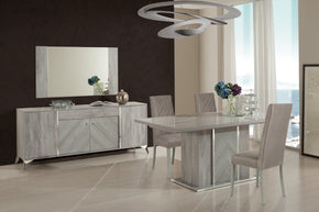 Dining Sets - Vig Furniture VGACALEXA-DT-SET Nova Domus Alexa Italian Modern Grey Dining Table Set | Only $4339.80. Buy today at http://www.contemporaryfurniturewarehouse.com