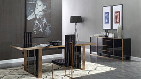 Dining Sets - Vig Furniture VGVCA002-DINSET Nova Domus Cartier Modern Black & Brushed Bronze Dining Set | Only $5149.80. Buy today at http://www.contemporaryfurniturewarehouse.com