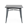 Sundsvall Dark Gunmetal Steel Dining Table 30