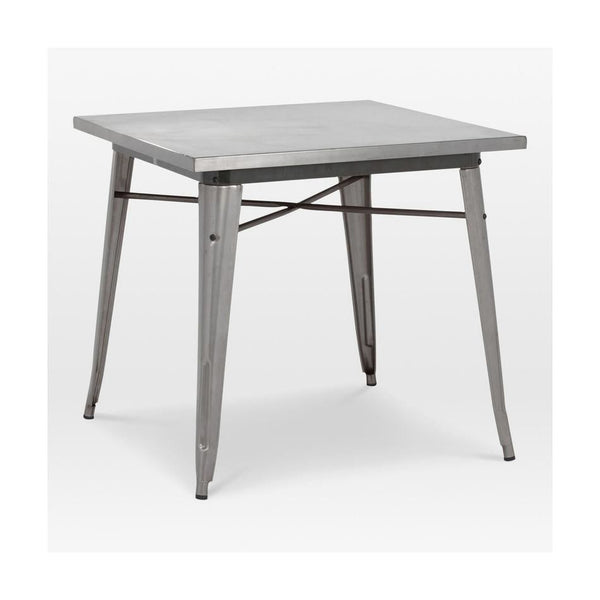 Sundsvall Clear Gunmetal Steel Dining Table 30