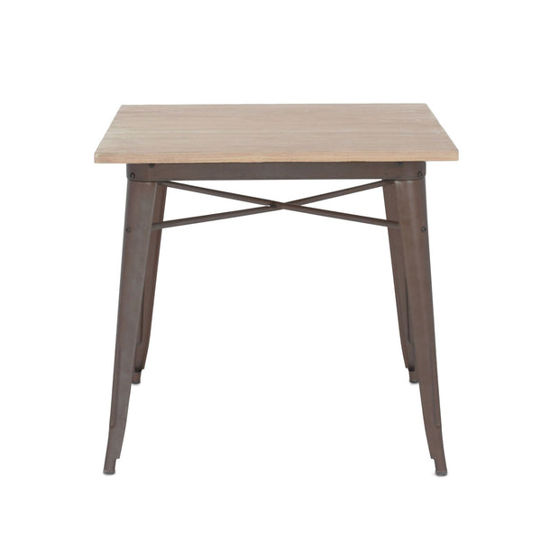 Dining Tables - Design Lab MN LS-9120-RMTLW Sundsvall Rustic Matte + Light Elm Wood Top Steel Dining Table 30 | 640746588778 | Only $239.80. Buy today at http://www.contemporaryfurniturewarehouse.com