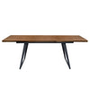 Tempo Extension Dining Table with Walnut Top & Black Powder Coated Legs