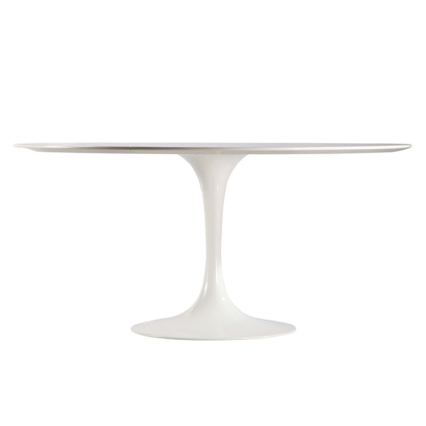 "Dining Tables - EdgeMod EM-206-WHI Daisy 60"" Round Dining Table in White 