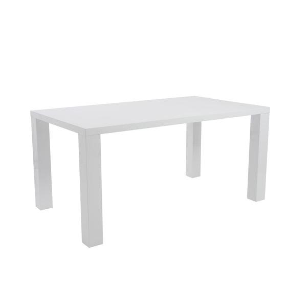 Abby Rectangle Dining Table In White High Gloss Lacquer