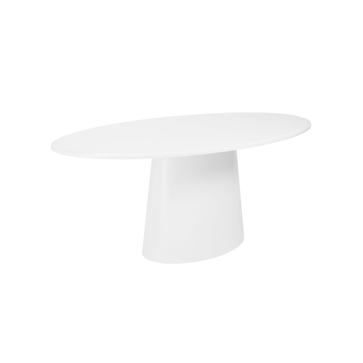 Euro Style EUROMTWHTKIT Deodat Oval Dining Conference Table - White oval conference table