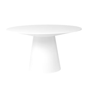 Wesley 53 Round Dining Table In Matte White