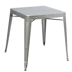 Tolix Style Dining Table Silver