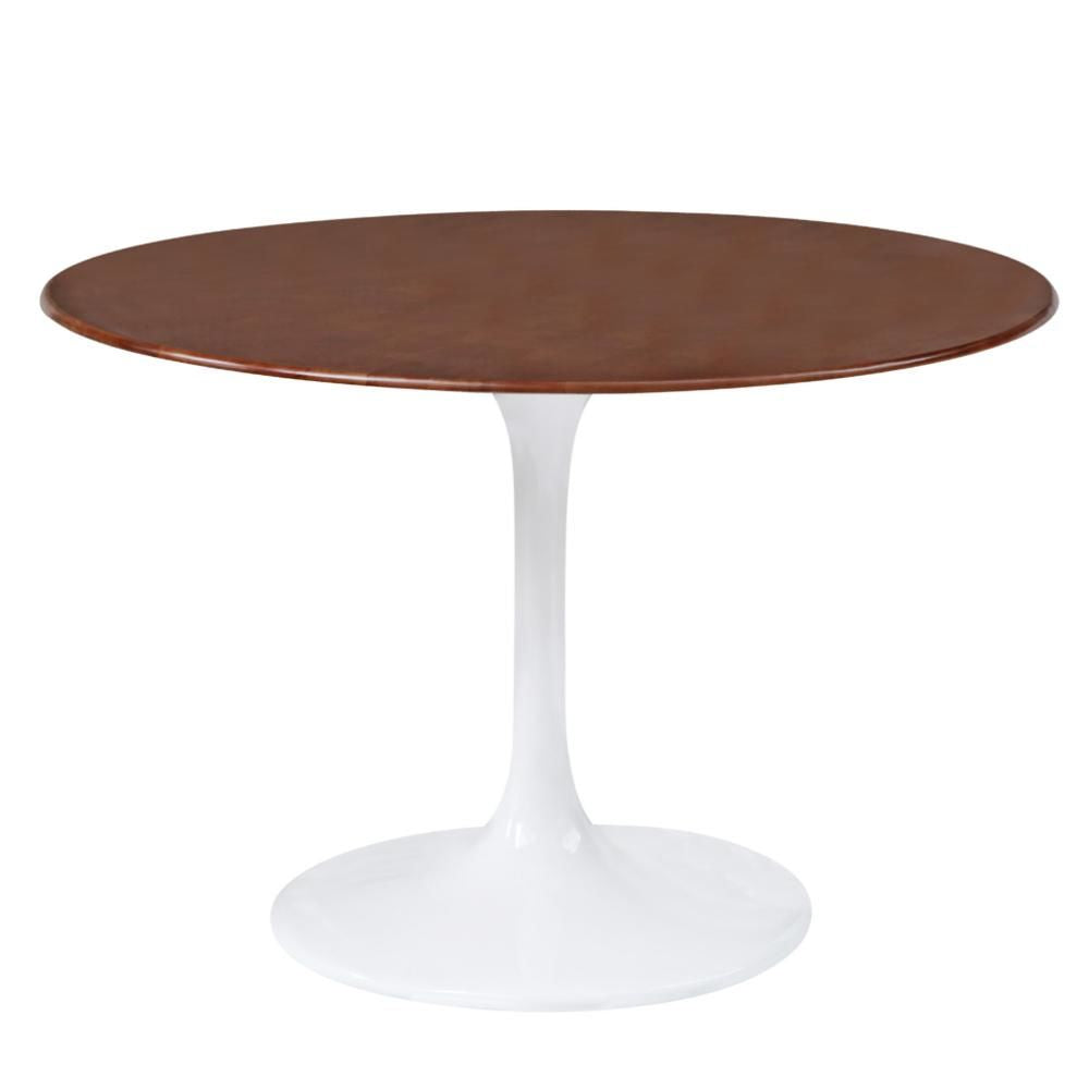 Flower Table Wood Top 48 Walnut Dining