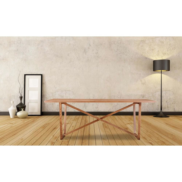 Tricolor Dining Table Walnut