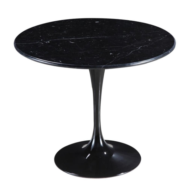 Flower Marble Table 48 Black Dining