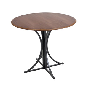 Boro Dining Table Walnut Black