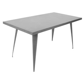Austin Industrial Dining Table Matte Grey