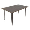 Oregon Industrial Dining Table Antique, Espresso