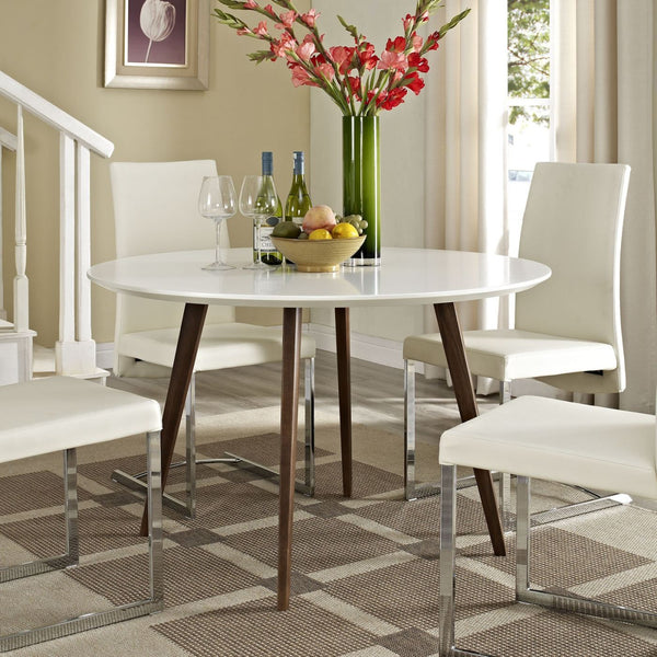 Modway Dining Tables on sale. EEI-1064-WHI Platter White Round Modern  Kitchen Table only Only $469.05 at Contemporary Furniture Warehouse