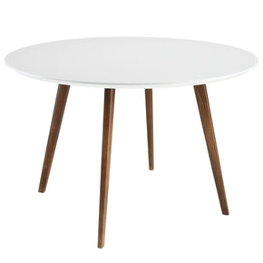 Dining Tables - Modway EEI-1064-WHI Platter White Round Modern Kitchen Table | 848387012328 | Only $489.25. Buy today at http://www.contemporaryfurniturewarehouse.com
