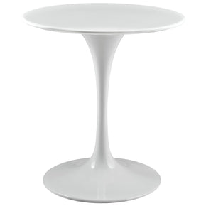 "Dining Tables - Modway EEI-1115-WHI Lippa 28"" Round Wood Top Dining Table 
