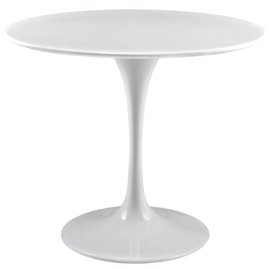 Lippa 36 Round Wood Top Dining Table White