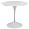 "Dining Tables - Modway EEI-1116-WHI Lippa 36"" Round Wood Top Dining Table 
