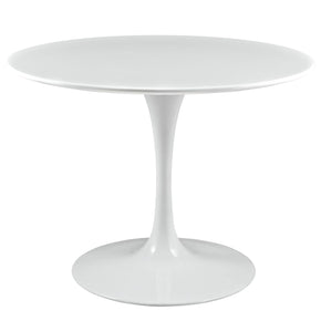 "Dining Tables - Modway EEI-1117-WHI Lippa 40"" Round Wood Top Dining Table 
