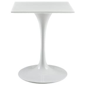 Lippa 24 Square Wood Top Dining Table White