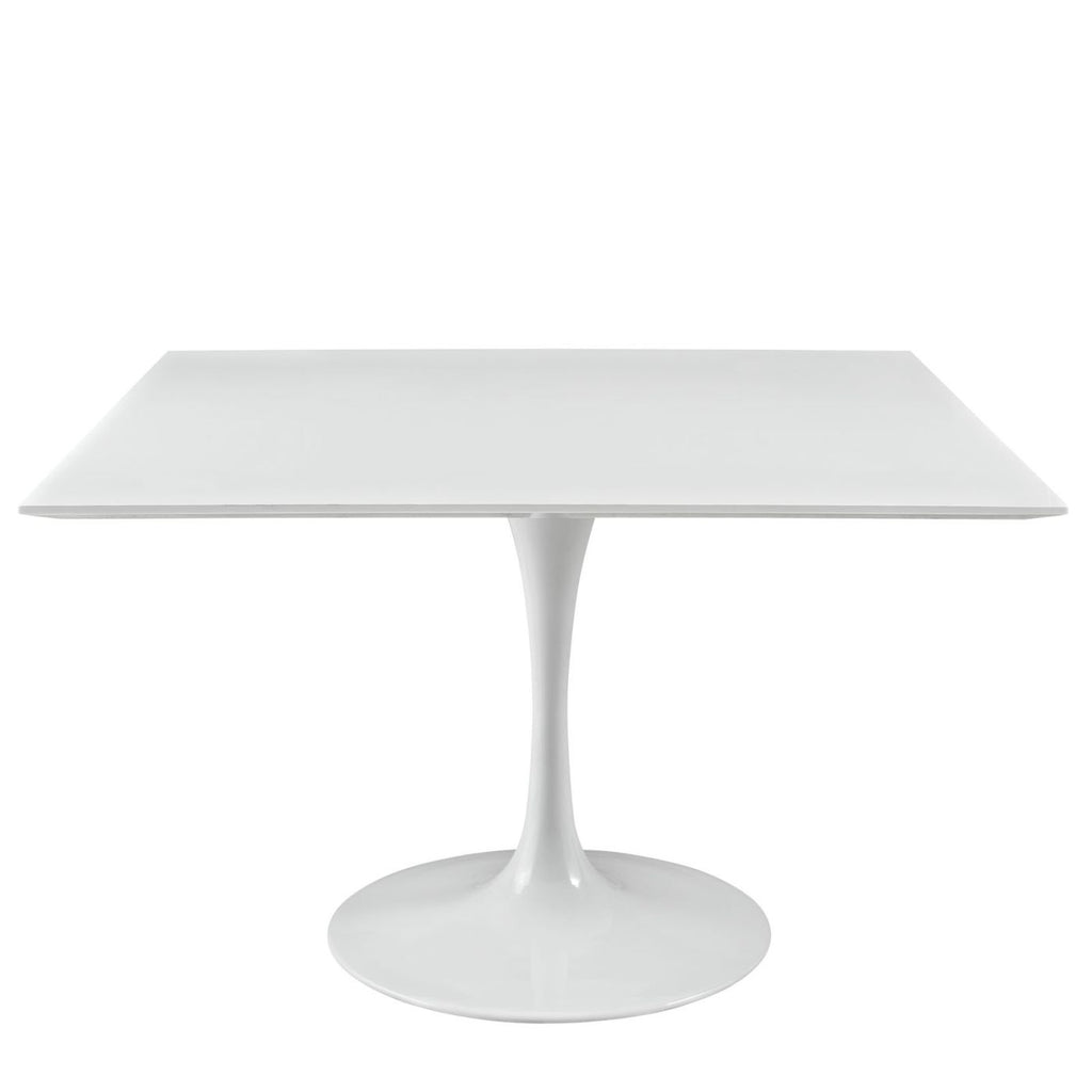 Lippa 47 Square Wood Top Dining Table White