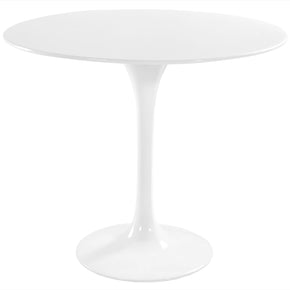 "Dining Tables - Modway EEI-117-WHI Lippa 36"" Round Fiberglass Dining Table 