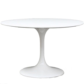 "Dining Tables - Modway EEI-118-WHI Lippa 40"" Round Fiberglass Dining Table 