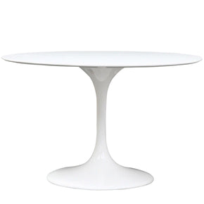 "Dining Tables - Modway EEI-119-WHI Lippa 48"" Round Fiberglass Dining Table 